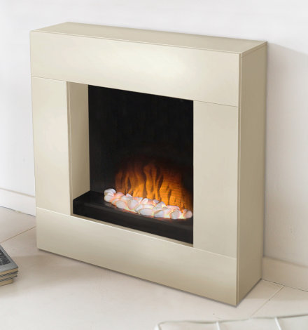Adam Alton Ivory Freestanding Electric Fireplace Suite